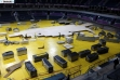 Beogradska Arena - postavljanje atletske staze