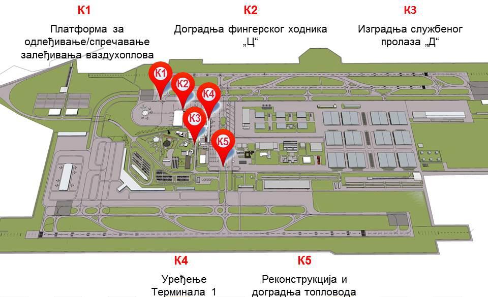 aerodrom beograd mapa Aerodrom Nikola Tesla   (Avijacija)   Page 114   BEOBUILD | FORUM aerodrom beograd mapa