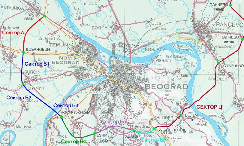 obilaznica oko beograda mapa Obilaznica   Sektor C   Beobuild obilaznica oko beograda mapa