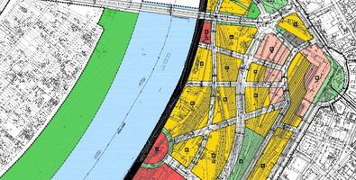 mapa beograda sa ulicama i objektima Izrađen prostorni plan